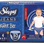 Sleepy Jeans 4 Numara Külot Bez 7-14 kg Maxi 30 Adet