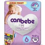Canbebe 6 Numara Bebek Bezi XL 15-27 kg Jumbo Paket 18 Adet