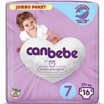 Canbebe 7 Numara Bebek Bezi XXL 17+ kg Jumbo Paket 16 Adet