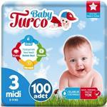 Baby Turco 3 Numara Bebek Bezi 5-9 kg Midi 100 Adet