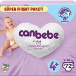 Canbebe 4+ Numara Bebek Bezi 9-16 kg Süper Fırsat Paketi 72 Adet