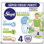 Sleepy Natural 4 Numara Külot Bez 7-14 kg Maxi 100 Adet