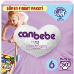 Canbebe 6 Numara Bebek Bezi 15-27 kg Süper Fırsat Paketi 50 Adet