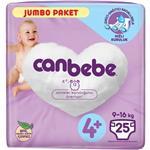 Canbebe 4+ Numara Bebek Bezi Maxi Plus 9-16 kg Jumbo Paket 25 Adet